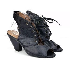 """JEFFREY CAMPBELL """"Crunchy"""" Leather lace up heel"""